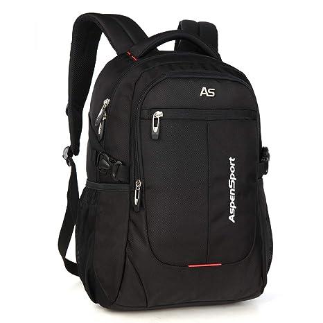 1e3487c6da ASPENSPORT Laptop Backpack for Man Fit 15.6 Inch College Student Bookbag  Business Travel Computer Bag Durable