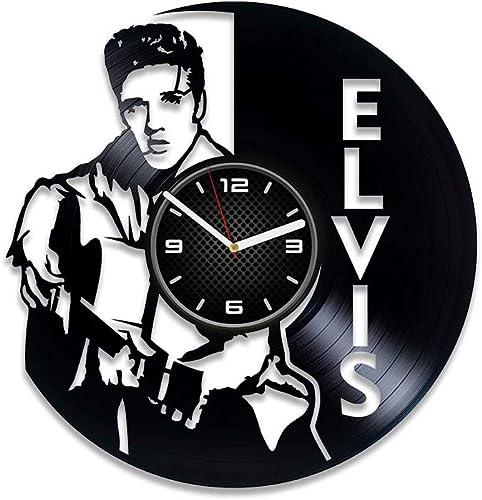 Kovides Handmade Elvis Presley Vinyl Clock Elvis Presley King of Rock n Roll Elvis Presley Wall Clock Large Vinyl Record Clock Elvis Presley Gift Elvis Presley Clock 12 inch Clock Gift For Man