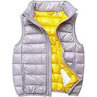 Chaleco Infantil Niño Niñas Duck Down Chaqueta Sin Manga Invierno Vest Plegable Chaquetas de Plumón