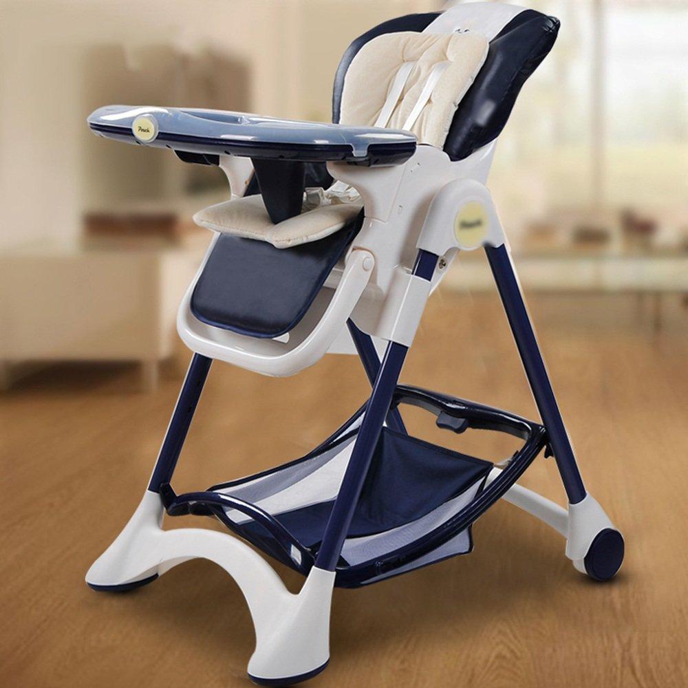 LJHA ertongcanyi ダイニングチェア多機能Foldableポータブルダイニングチェアベビー食卓とチェアシート子供のハイスツール6色オプション (色 : E)  E B07FMLHQJC