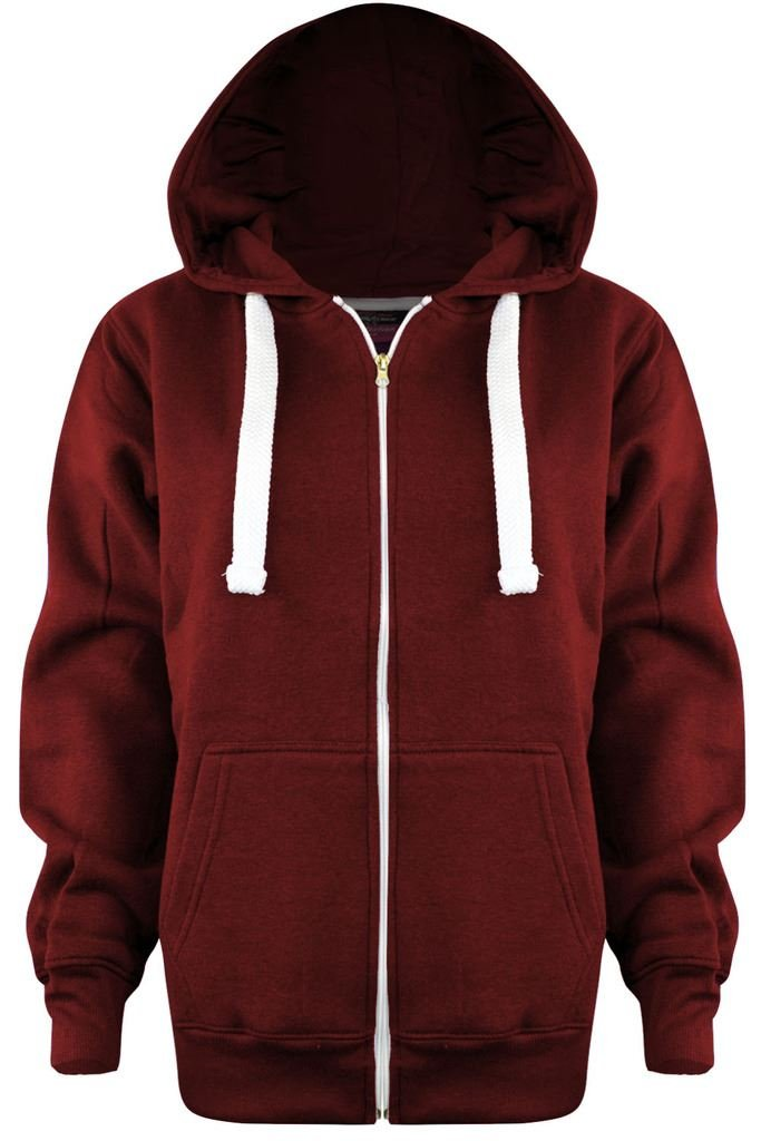 Vanilla Inc New Ladies Plus Size Plain Zip Hoodie UK Size 8-28 United Kingdom