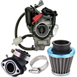 150cc Carburetor for GY6 4 Stroke Engines Electric Choke Motorcycle Scooter 152QMJ 157QMI with Air Filter Intake…
