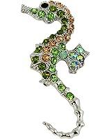 Dazzling Crystal Seahorse Brooch Pin