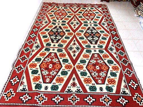 Kilim Rug,Turkish Kilim Rug,Traditional Rug,Kilim Fabric Rug - MA 27-28