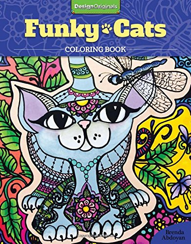 [Funky Cats Coloring Book] (Cat Costume Ideas Adults)