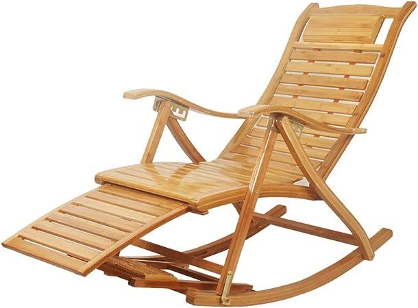 Chaise longue de jardin inclinable Chaise à bascule en ...