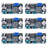 LM2596 DC to DC Buck Converter 6 Pack, Input 3.2V- 40V to Output 1.25V- 35V Adjustable Power Supply Step Down Module by Queenti