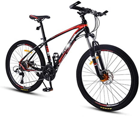 CDBK Bicicleta De Montaña, Shift/Off-Road De Bicicletas De Aleación De Aluminio Doble Amortiguador Racing Estudiante Adulto Bicicleta Roja: Amazon.es: Deportes y aire libre