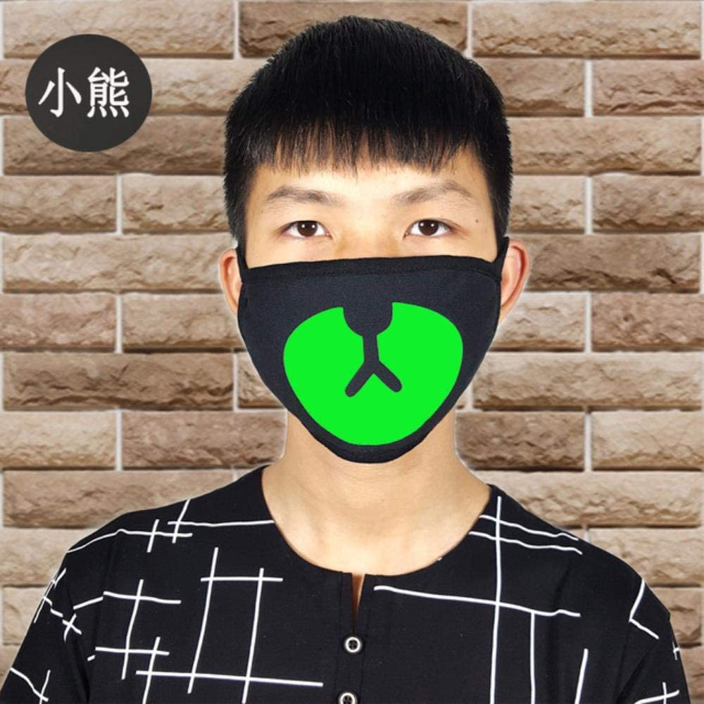 Anti-fog Outdoor Creative Cotton Mouth Mask Anti Dust Luminous Teeth Mask