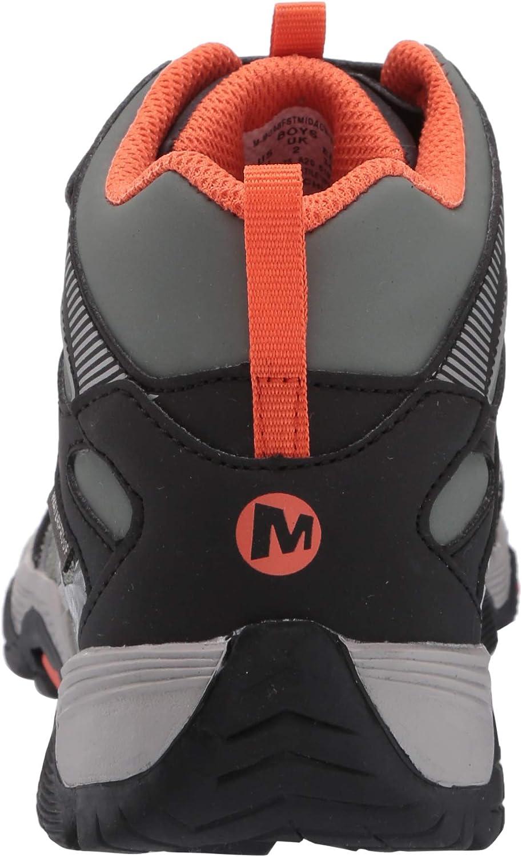 34 EU Merrell M- Moab FST Mid A//c Waterproof Olive//Black Chaussures de Fitness Mixte Enfant Multicolore