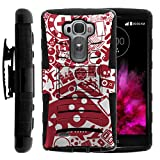 TurtleArmor | Compatible for LG G Flex 2 Case [Hyper Shock] Armor Solid Hybrid Cover Kickstand Impact Silicone Layer Holster Belt Clip Video Games Design - Gaming Collage