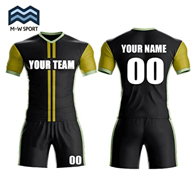 241a0c9aa56 Custom Sport Jerseys - Make Your Own Soccer Jersey Set - Personalized Team  Uniforms (Black