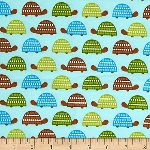 Kaufman Wild Bunch Flannel Turtles Park Fabric By The Yard (Park Flannel)