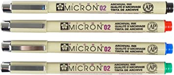 0.3mm Pigment Fineliners Sakura Pigma Micron Box of 12 Green