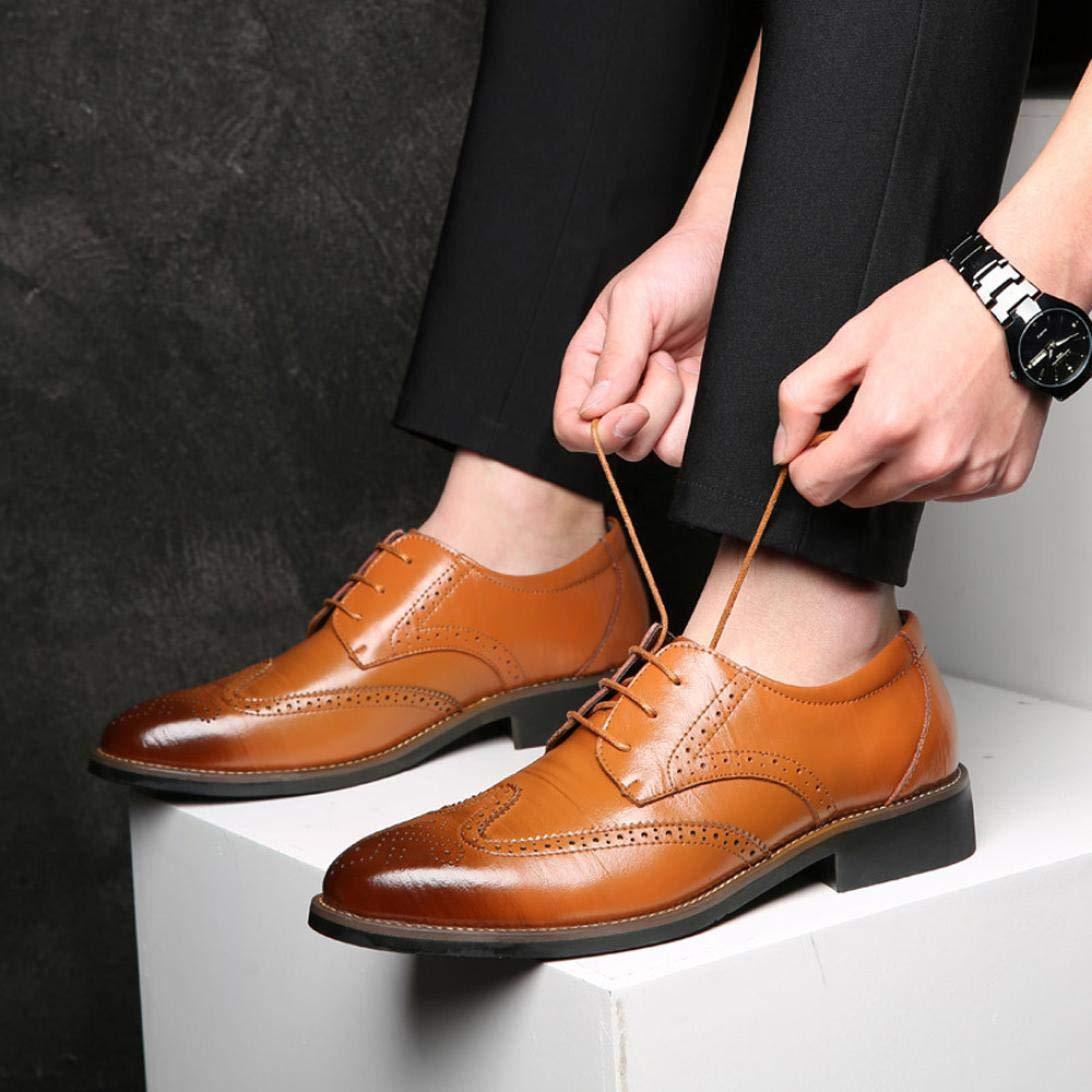 Soldes Homme Chaussures Richelieu Fauve Large en Cuir,Overdose Mode  Mocassins à Lacets Elégance Mariage 198500ab1060