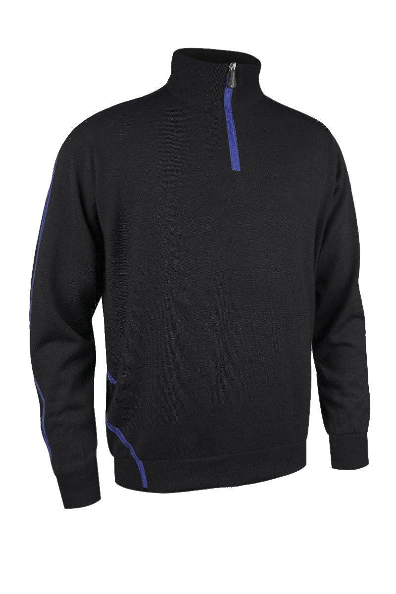 Sunderland Herren Hamsin Gefüttert Golf Sweater - Schwarz/Electric Blau - M