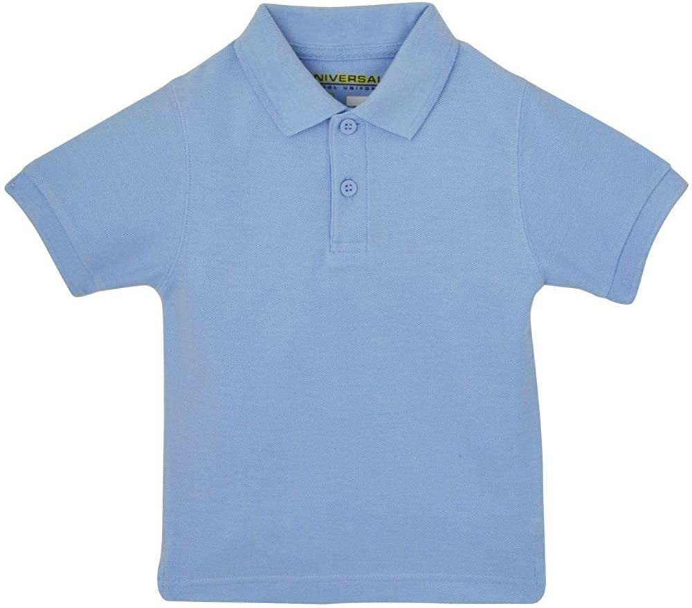 Girls Navy Short Sleeve Polo Pique Knit Shirt Premium Authentic School Uniform