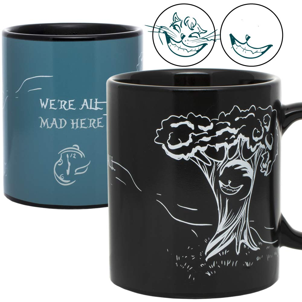InGwest Home. Alisa Mugs. Cheshire Cat Mug. Changing Color Heat Sensitive Mug. We All Mad Here! ...