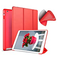 Aoub (Old Model) for ipad 2/3/4 case Slim Lightweight Tri-Fold Silicone Stand Cover...