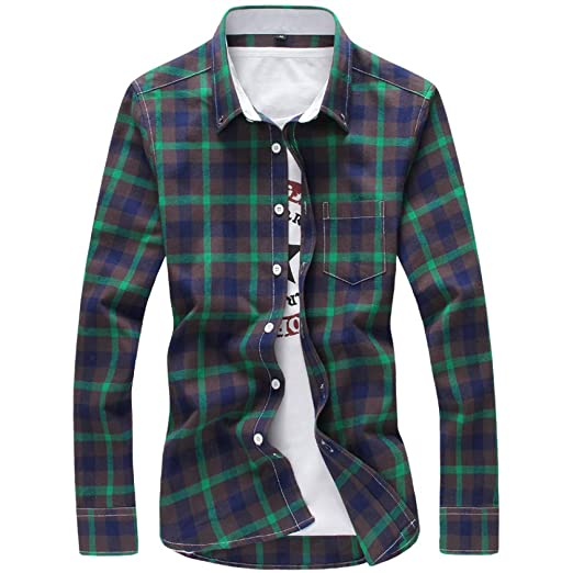 CSDM Camisa de Hombre 5XL Camisas A Cuadros Hombres Camisa A ...