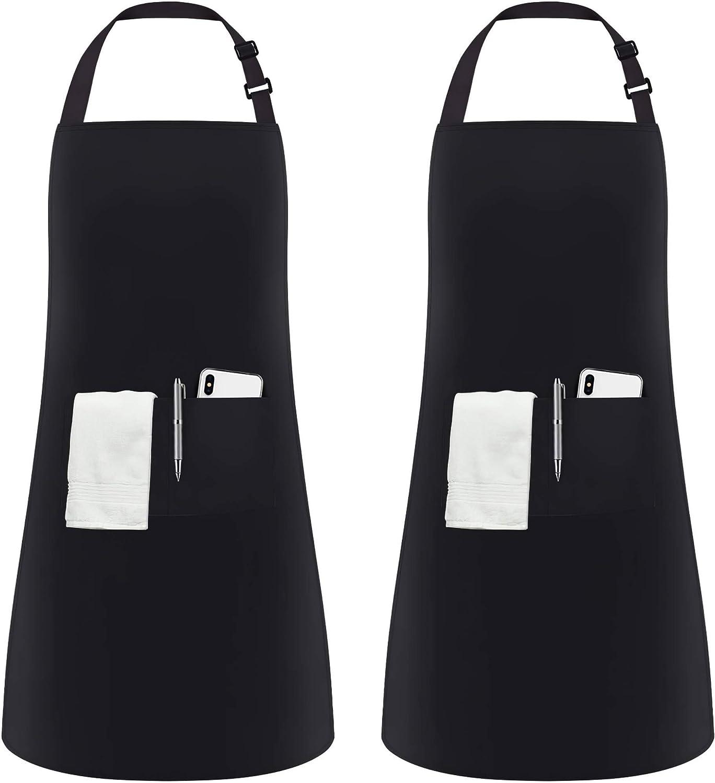 Eingeschlechtig 2 Taschen Schwarz Kuechenschuerze Schurz Laetzchen,Einheits W1K2