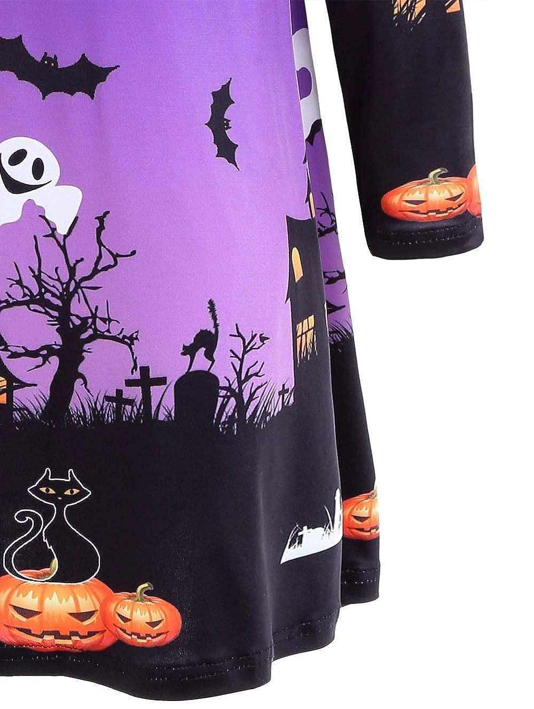 ... Halloween para Mujeres, Vestidos de Mujer Vestidos de Fiesta de Noche Falda de Vestido de Swing, Ofertas de liquidación!: Amazon.es: Ropa y accesorios