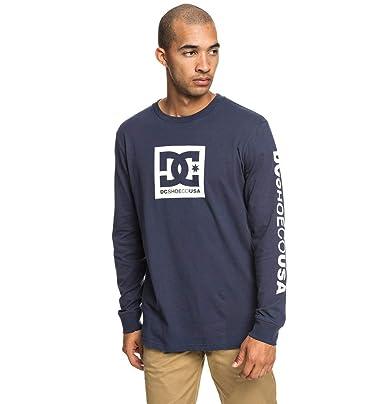 dac6ffbb37 DC Shoes Square Star - Long Sleeve T-Shirt for Men EDYZT03915: DC Shoes:  Amazon.co.uk: Clothing