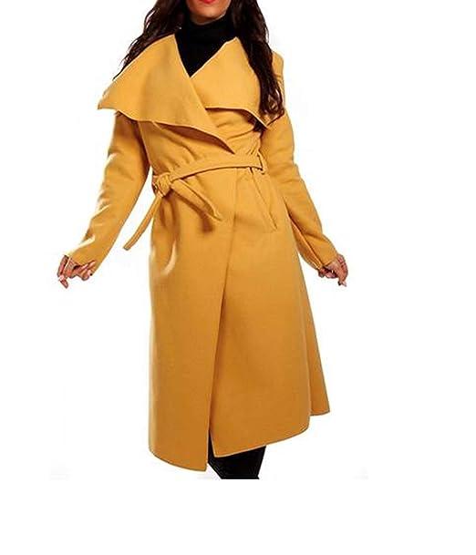 Abrigo de mujer, gabardina con cinturón, talla única, largo
