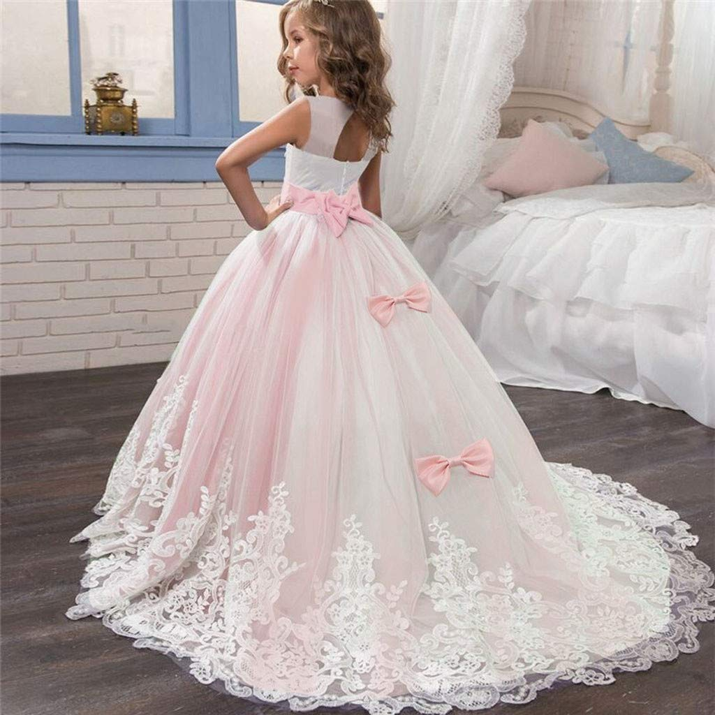 PENATE Baby Girl Princess Dress Cinderella Sleeveless Party Dance Wedding Skirt