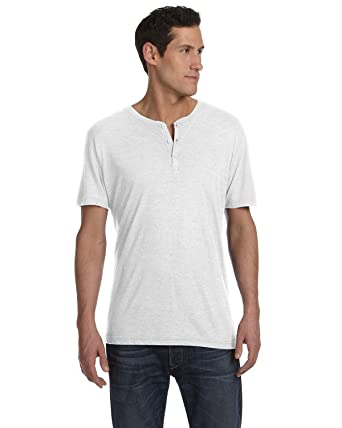 3b05f57bb06f Bella + Canvas Men's Triblend Short-Sleeve Henley at Amazon Men's Clothing  store: