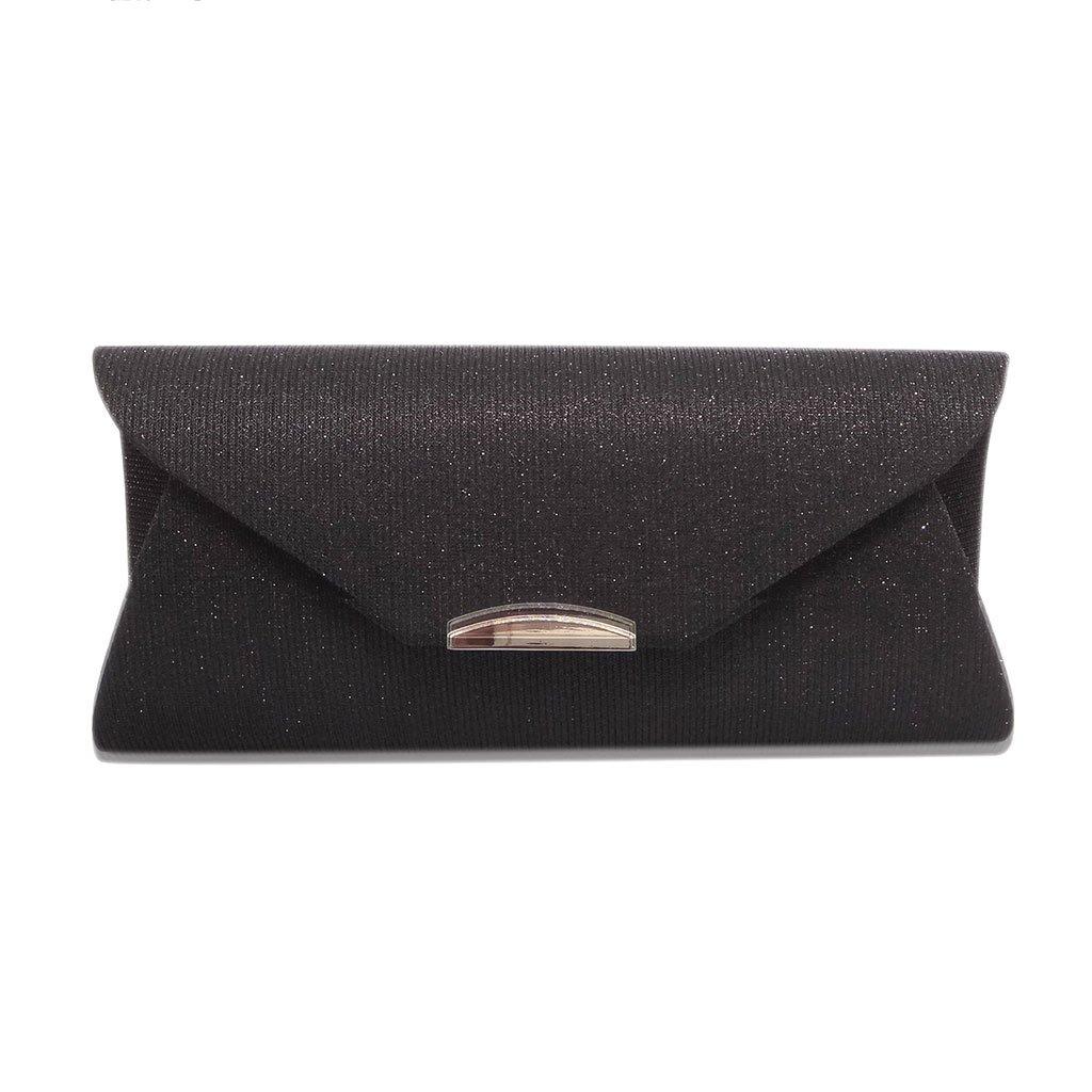 noir Wanfor Handmade Envelope Handbag pour femme avec pochette pour mariage Purse Handbag Clutch Wallet Part Robe de soir/ée