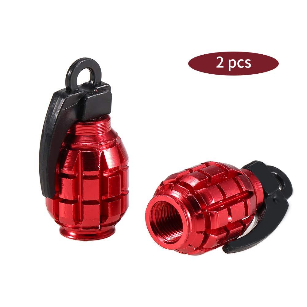 Lixada 2 Pcs V/élo De Valve Caps Air Valve Caps Tire Couvre-Poussi/ère De Valve VTT Moto V/élo Accessoires