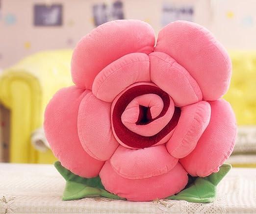 LuK aceite tridimensional rosas almohada cojín rosa rosas ...