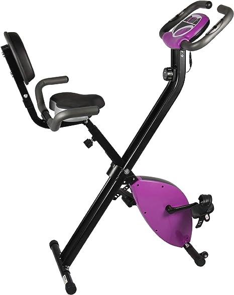 YMXLXL F-Bike, Bicicleta EstáTica con Sensores De Pulso De Mano, con/Sin Respaldo, Plegable, Unisex,Purple: Amazon.es: Hogar