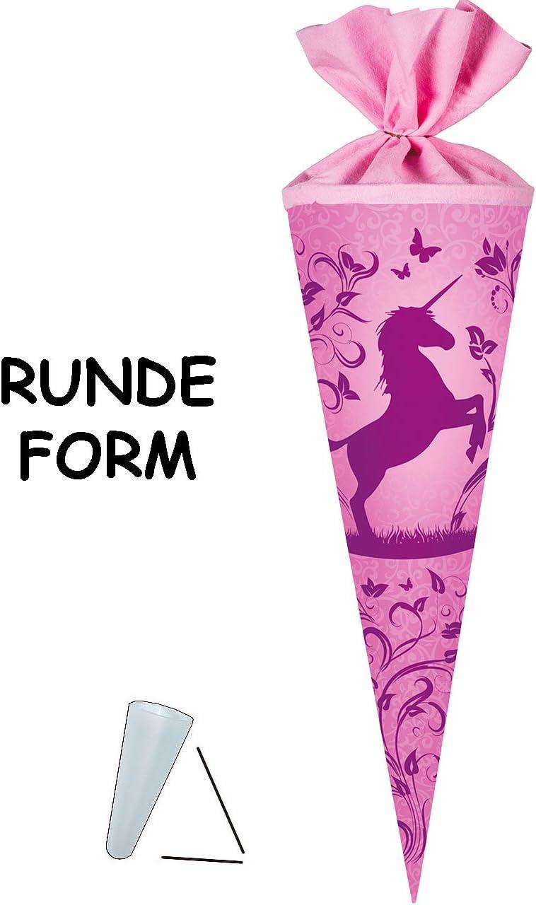 Einhorn /& Blumenranken incl mit T/üllabschlu/ß 50 cm rund Zuckert/üte Nestler mit // ohne Kunststoff Spitze gro/ße Schleife f/ür M/ä.. alles-meine.de GmbH Schult/üte