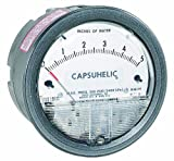 Dwyer Capsuhelic Series 4000 Differential Pressure Gauge, Range 0-30 psid