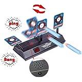 Petforu Auto-Reset Scoring Target with Sounds Electric Practice Game Target for Nerf Toys LZ034 Nerf Blaster Gel Beads Blaster