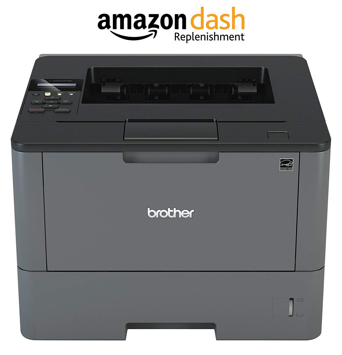 Brother Monochrome Laser Printer, HL-L6200DW, Wireless Networking, Mobile Printing, Duplex Printing, Large Paper Capacity, Amazon Dash Replenishment Enabled Brother Printer