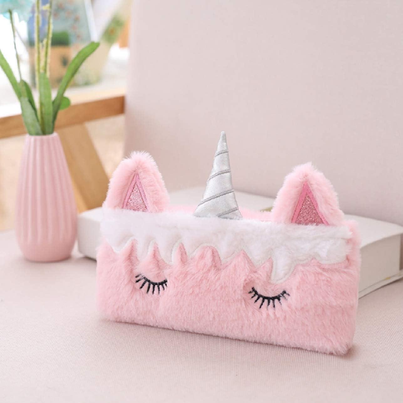K Rare - Estuche de peluche con diseño de cuerno de unicornio c: Amazon.es: Hogar
