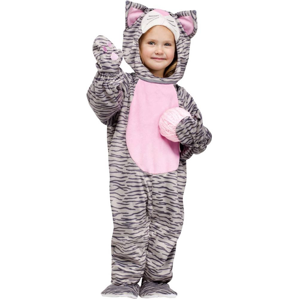 Little Grey Striped Kitten Costume