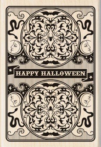 Inkadinkado Wood Stamp, Halloween Playing Card]()