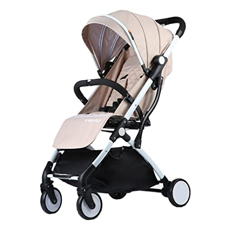 Trolley LXZXZ - Carro de bebé de 4 ruedas Ultra-ligero Portátil para sentarse Carro