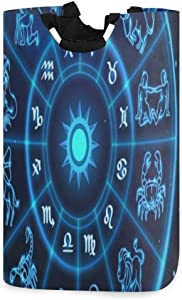 SLHFPX Laundry Basket Stars Constellation Astrology Large Collapsible Dirty Laundry Hamper Bag Tall Fabric Storage Baskets Rectangle Folding Washing Bin Hand Clothes Organizer for Kids,Dorm 53L