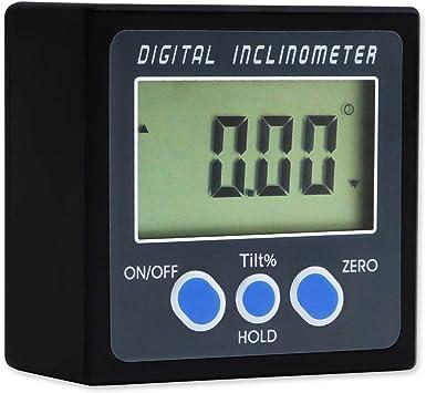 Digital Gauge Angle Protractor Finder Clinometer Bevel Box Magnetic Waterproof P