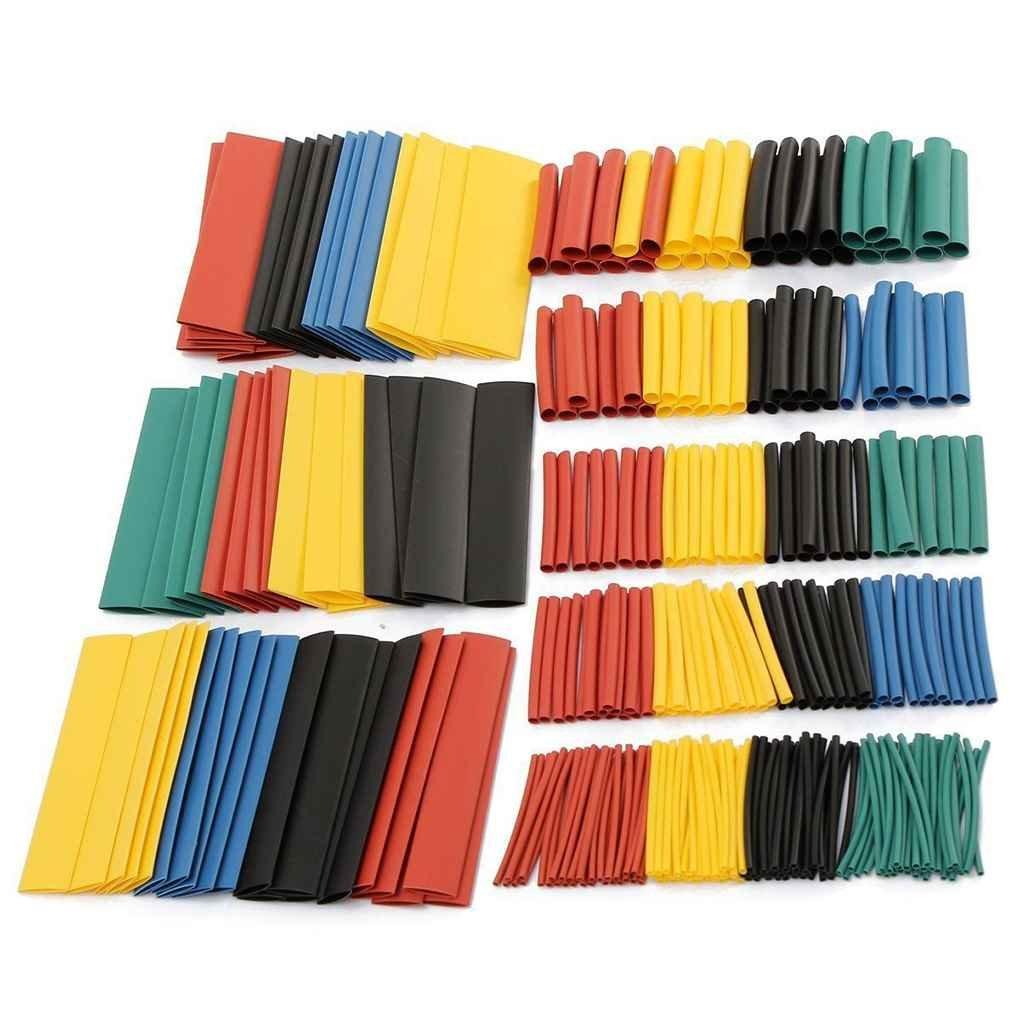 Lidahaotin 328pcs colorato tubi termorestringenti Guaine Wrap Cable Wire Tubi Set 8 Size