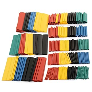 Lidahaotin 328pcs colorato tubi termorestringenti Guaine Wrap Cable Wire Tubi Set 8 Size