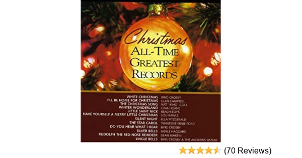 tennessee ernie ford bing crosby merle haggard dean martin andrews sisters various artists christmas all time greatest records amazoncom music - Christmas Song Do You Hear What I Hear