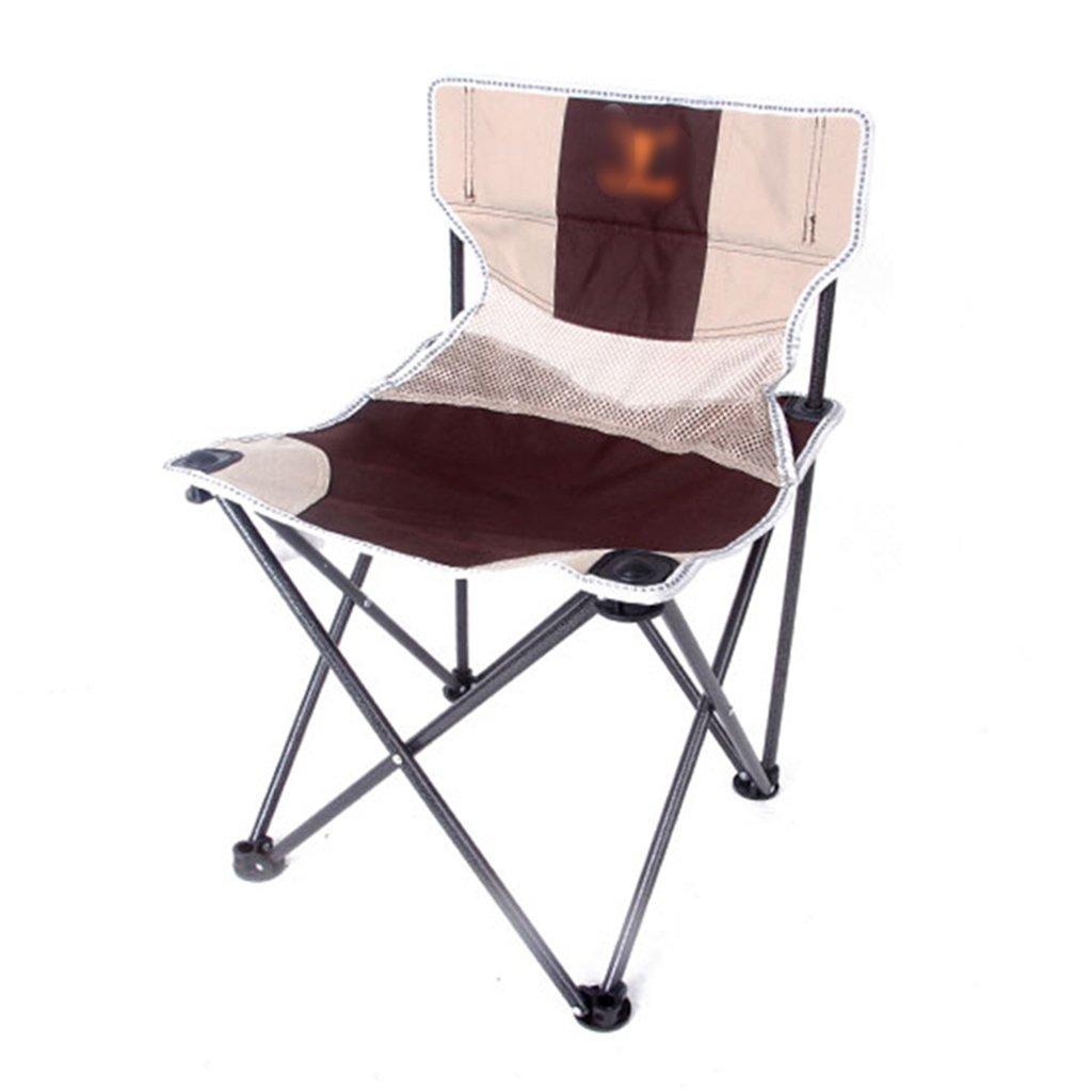 ZGL 旅行椅子 屋外折り畳みチェアポータブルビーチラウンジチェア折りたたみ釣り用スツール背もたれ椅子屋外椅子カラーオプション ( 色 : ブラウン ぶらうん , サイズ さいず : Pack of 1 ) B07C77DD18 Pack of 1|ブラウン ぶらうん ブラウン ぶらうん Pack of 1