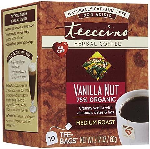 Teeccino Caffeine Free Herbal Coffee - Vanilla Nut - 10 ct - Caffeine Free Coffee