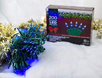 Super Bright Led Home Wedding Christmas Garden Party Decorative String Lights Set Blue 200 Piece 54 Ft Lighted Length Connect Up To 15 Sets